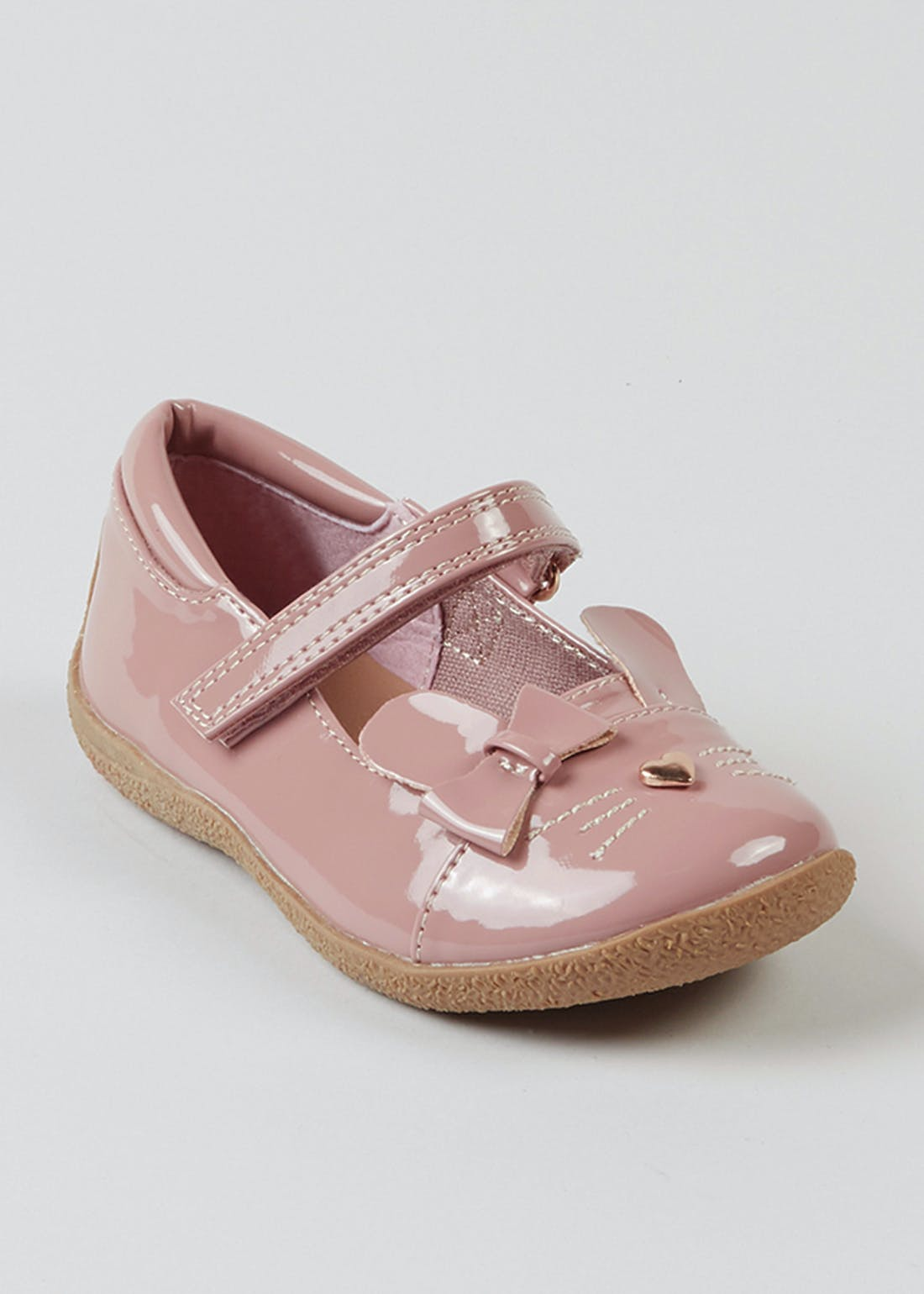 Girls Pink Patent Bunny Shoes (Younger 4-12)
