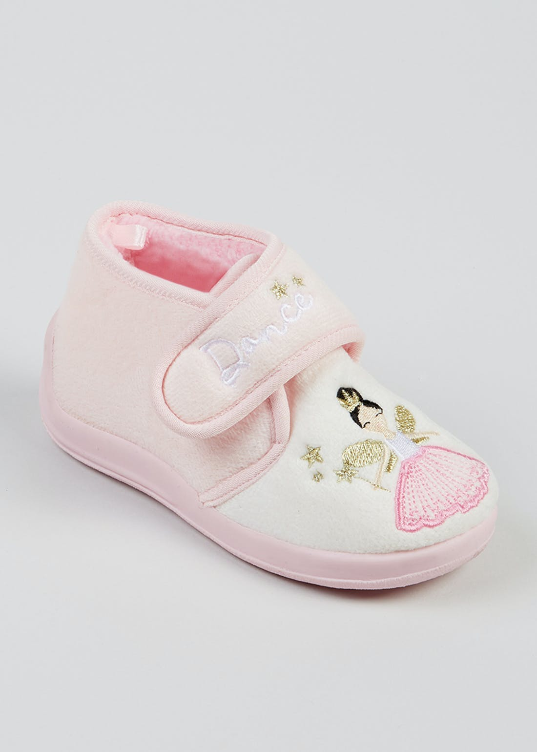 Girls Pink Ballerina Slippers (Younger 4-12)