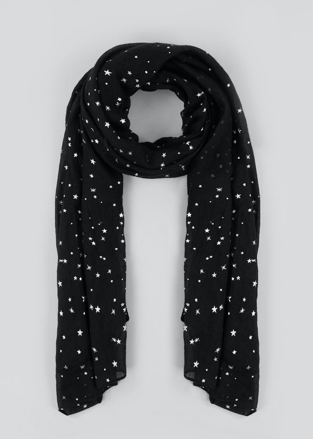 Star Print Woven Scarf