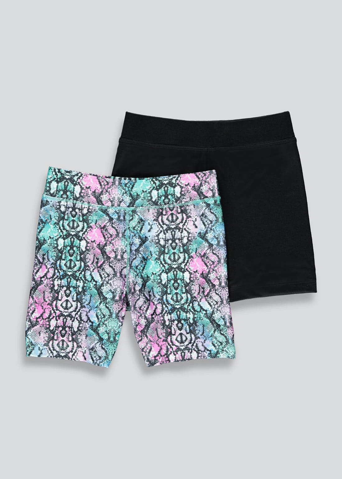 Girls Souluxe 2 Pack Snake Print Cycling Shorts (4-13yrs)