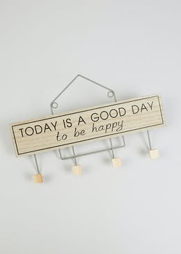 Today Is A Good Day Wall Hooks (45cm x 28cm x 4.5cm)