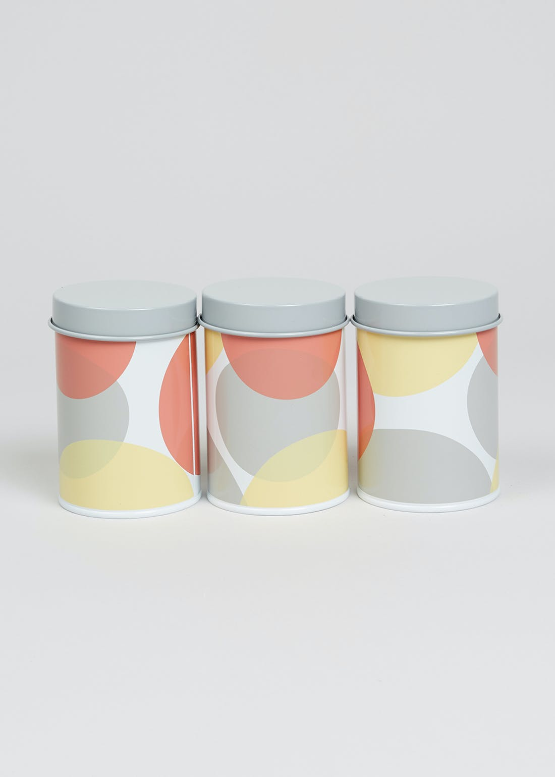3 Pack Abstract Print Kitchen Canisters (14cm x 9cm)
