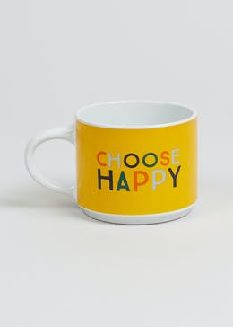 Stackable Choose Happy Mug (15cm x 11cm x 9cm)