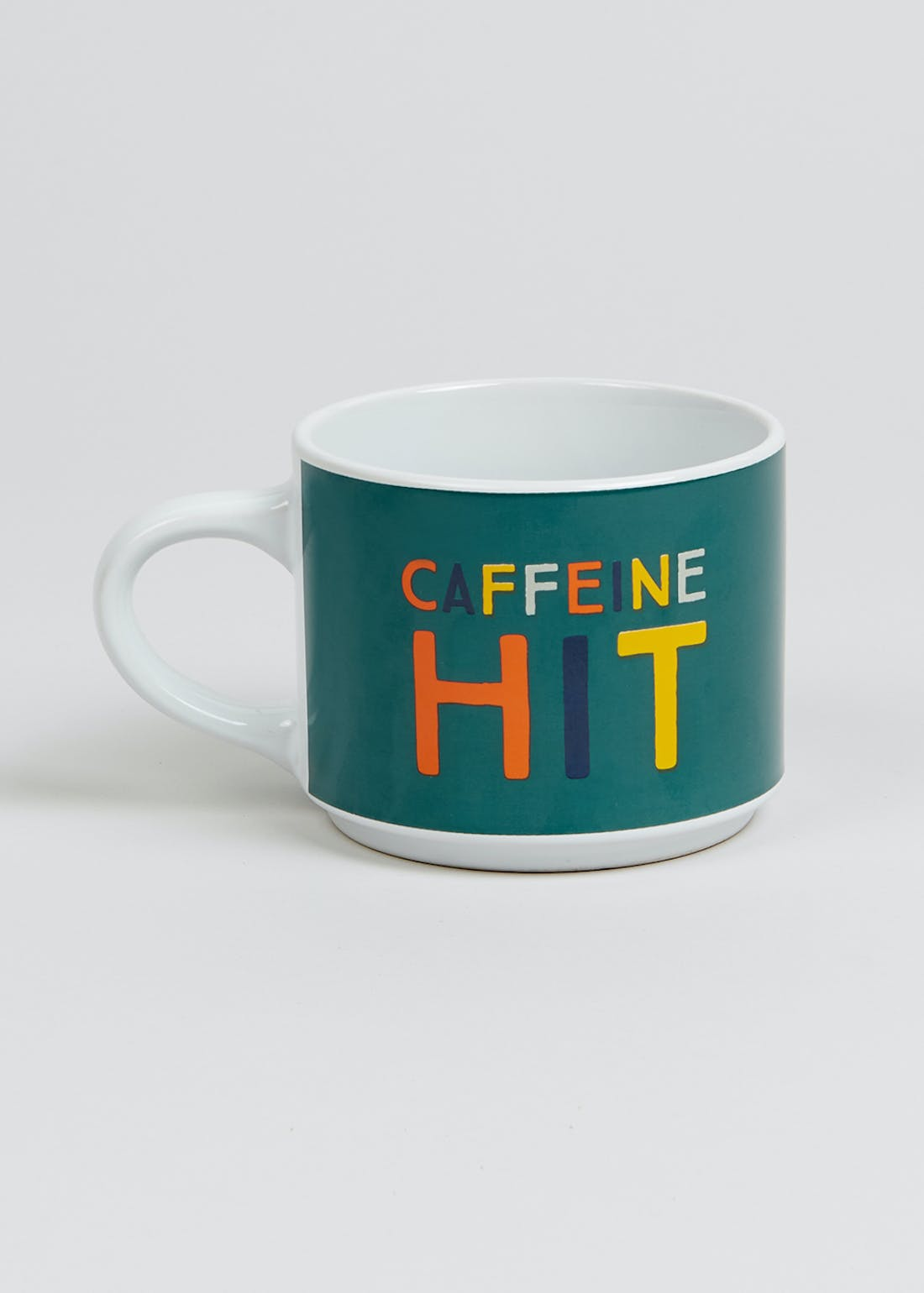 Stackable Caffeine Hit Mug (15cm x 11cm x 9cm)