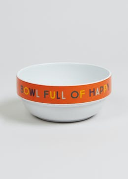 Full Of Happy Cereal Bowl (16.5cm x 16cm x 8cm)