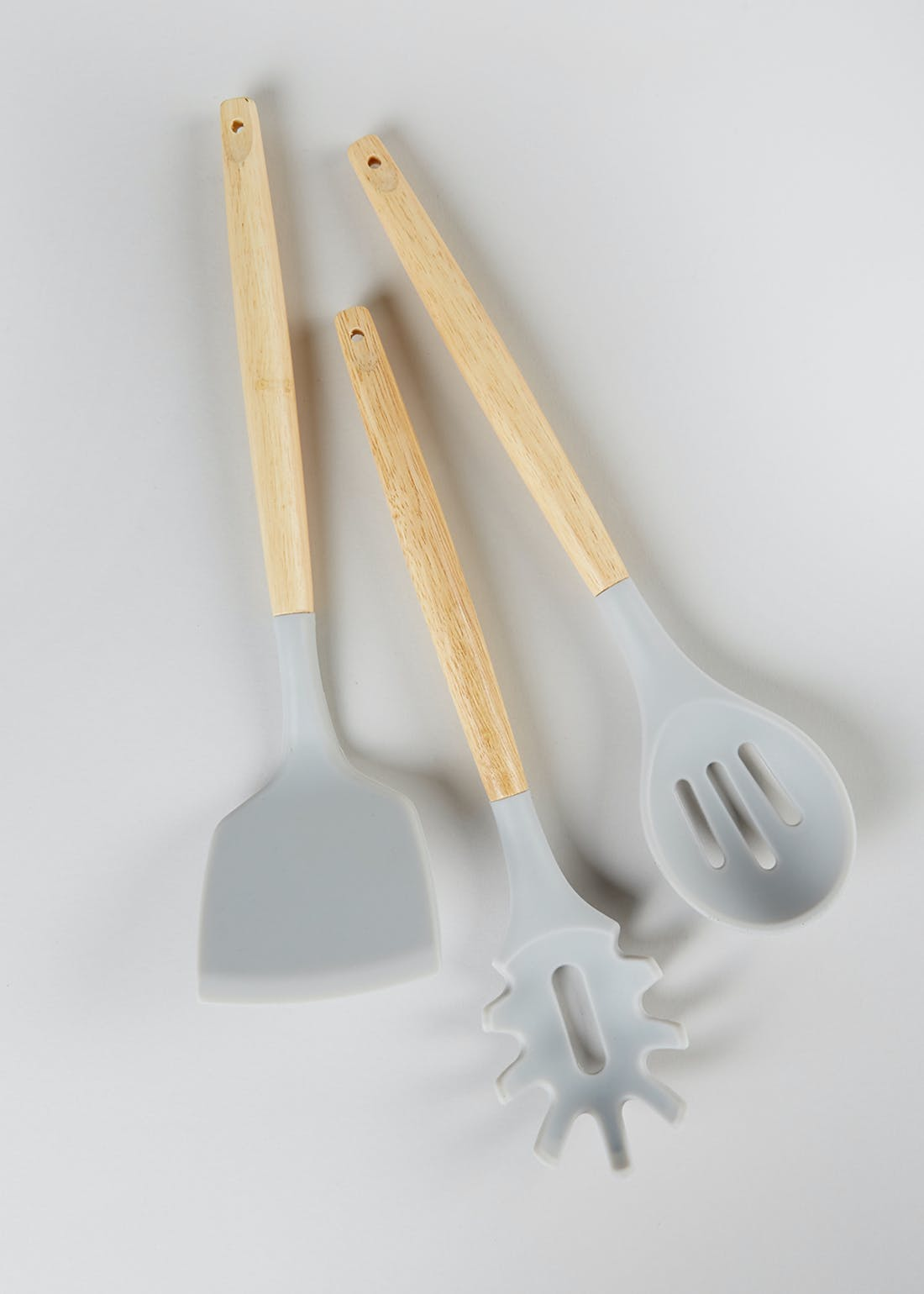 3 Piece Wood & Silicone Kitchen Utensil Set