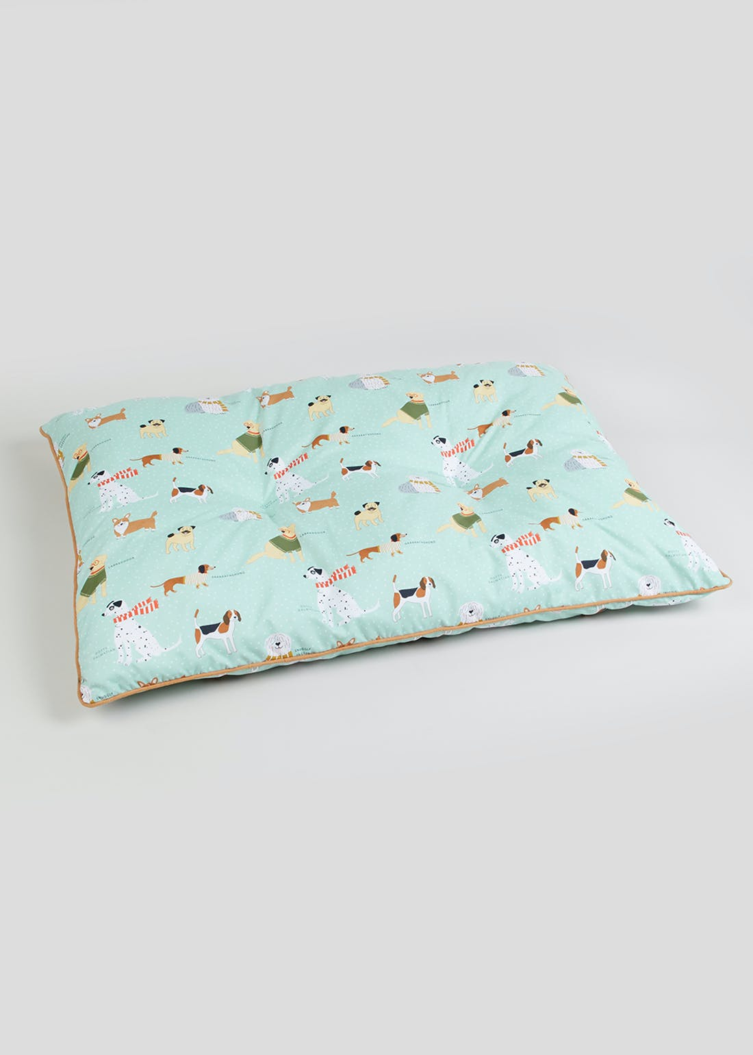 Dog Print Large Pet Bed (100cm x 70cm x 10cm)