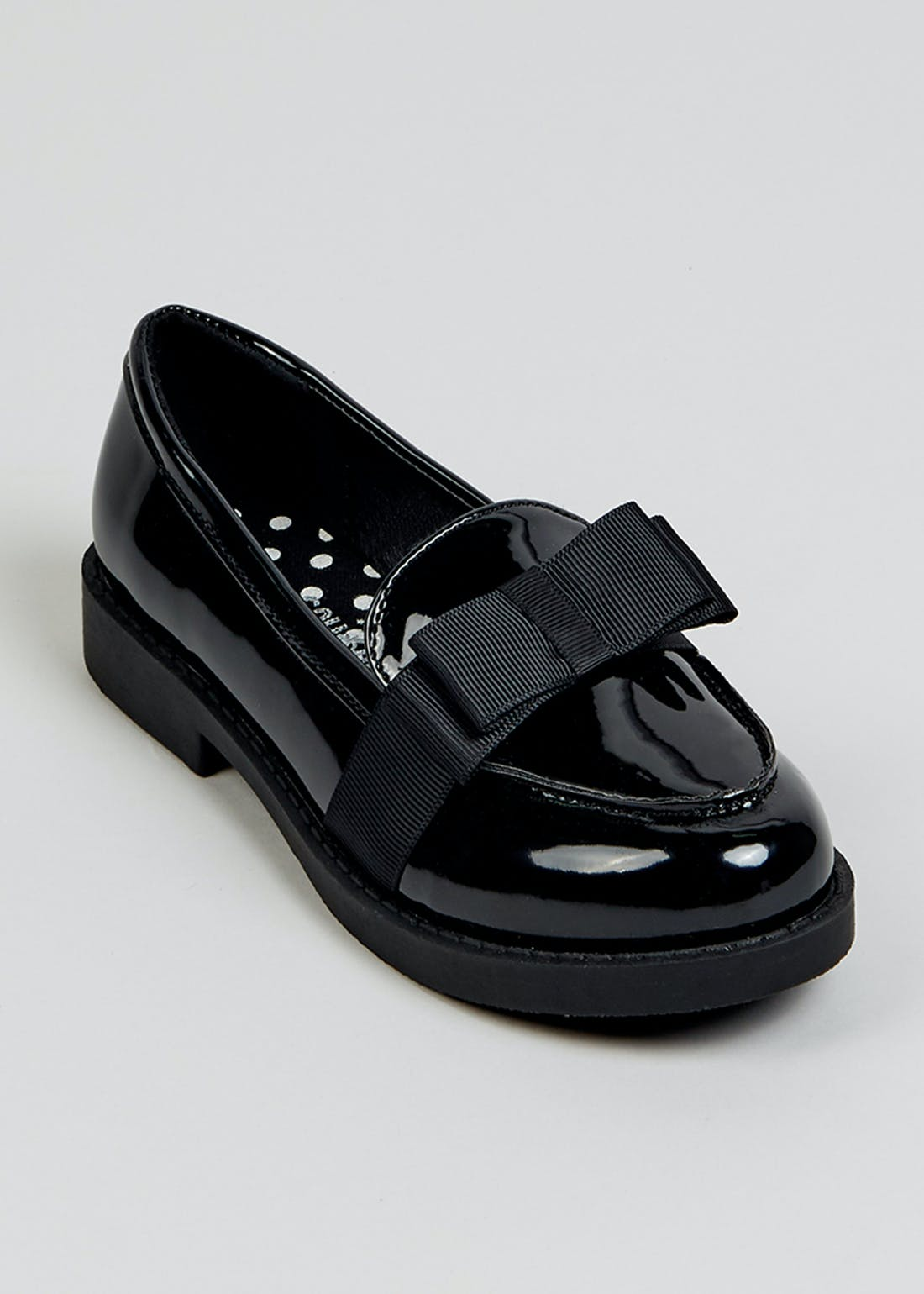 Girls Black Patent School Shoes (Younger 10-Older 5)