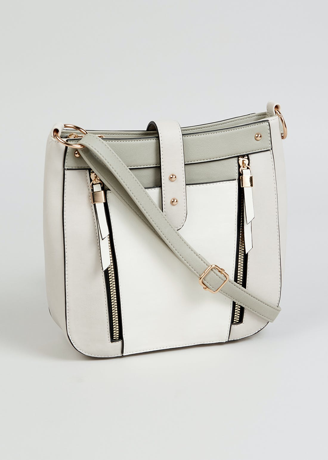 Zip Detail Messenger Bag