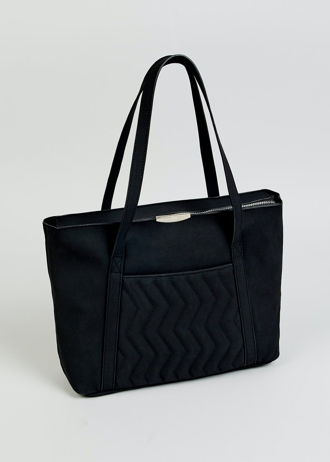 Quilted Pocket Tote Bag