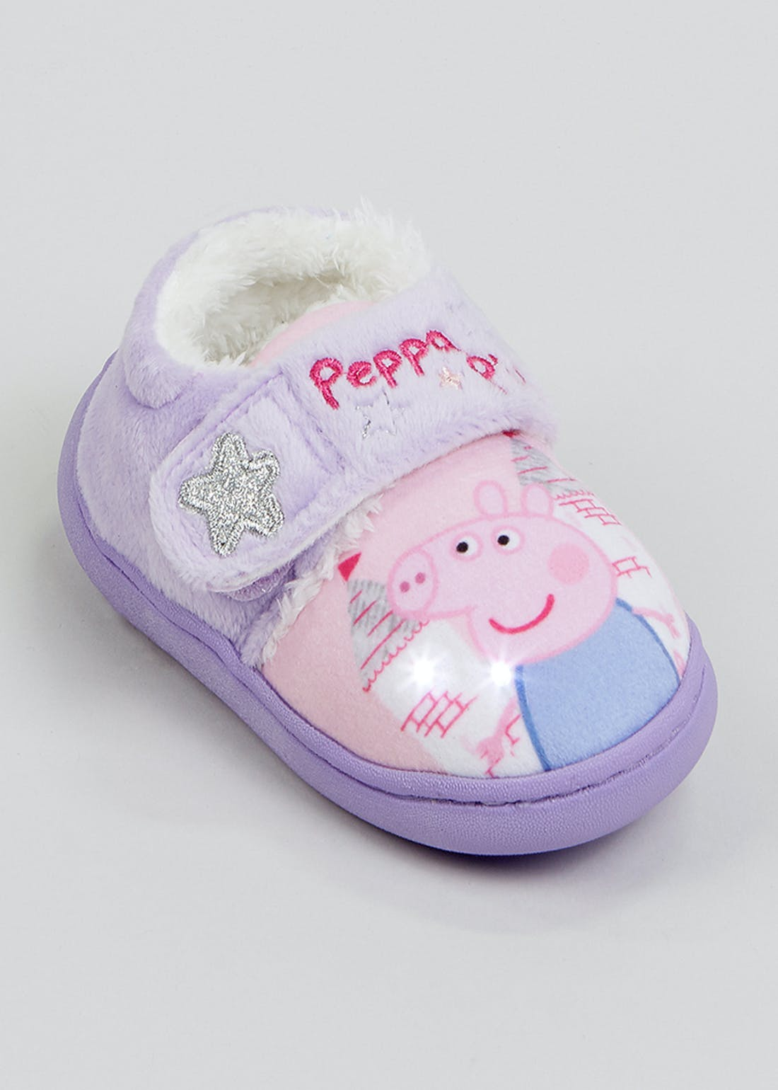 Kids Peppa Pig Light Up Slippers (Younger 4-12)
