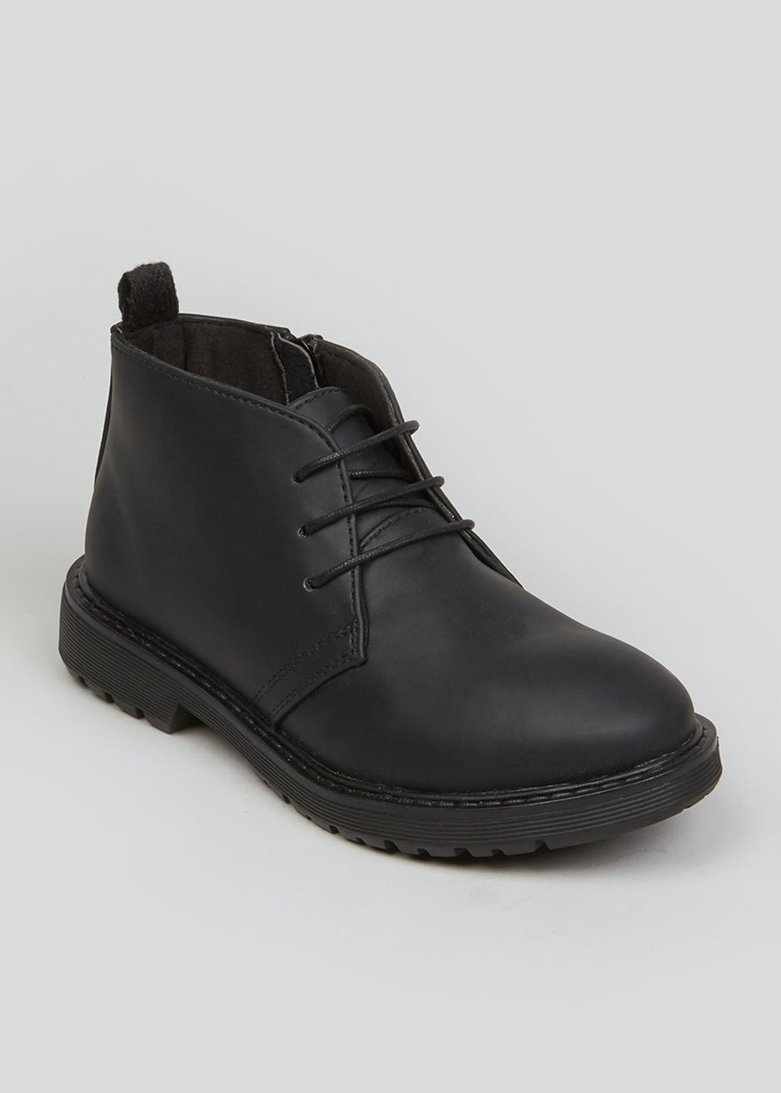 Boys Black Lace Up Ankle Boots (Younger 13-Older 5)