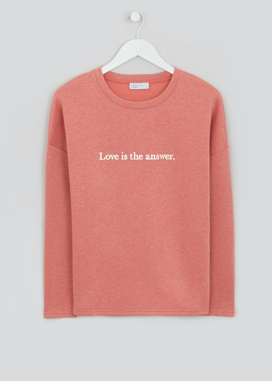 Love Is The Answer Slogan Sweatshirt