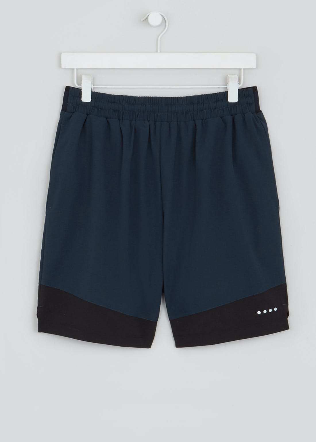 Souluxe Navy Panelled Gym Shorts