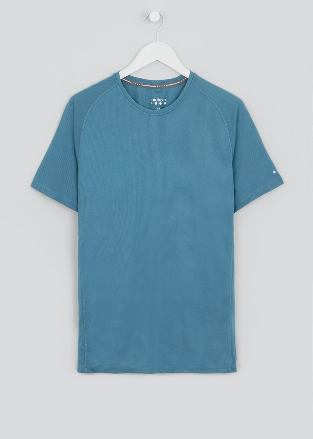 Souluxe Teal Textured Stripe Gym T-Shirt
