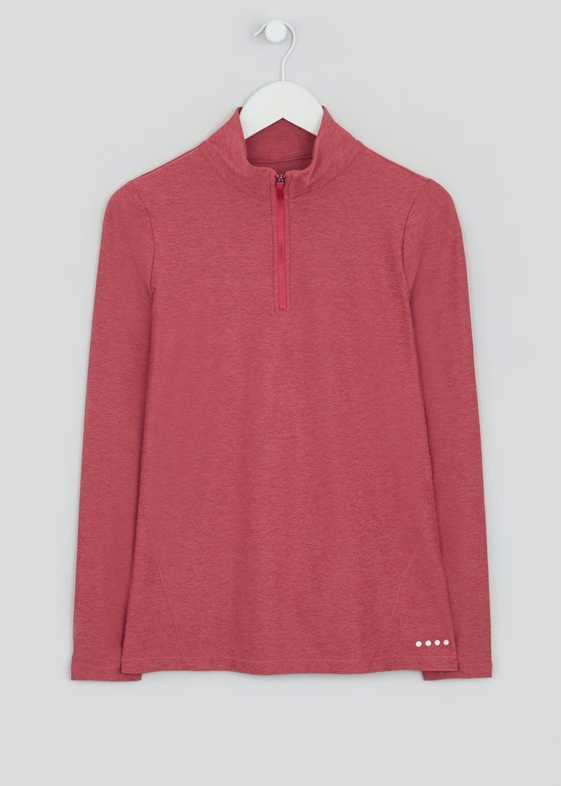 Souluxe Pink Half Zip Long Sleeve Gym Top