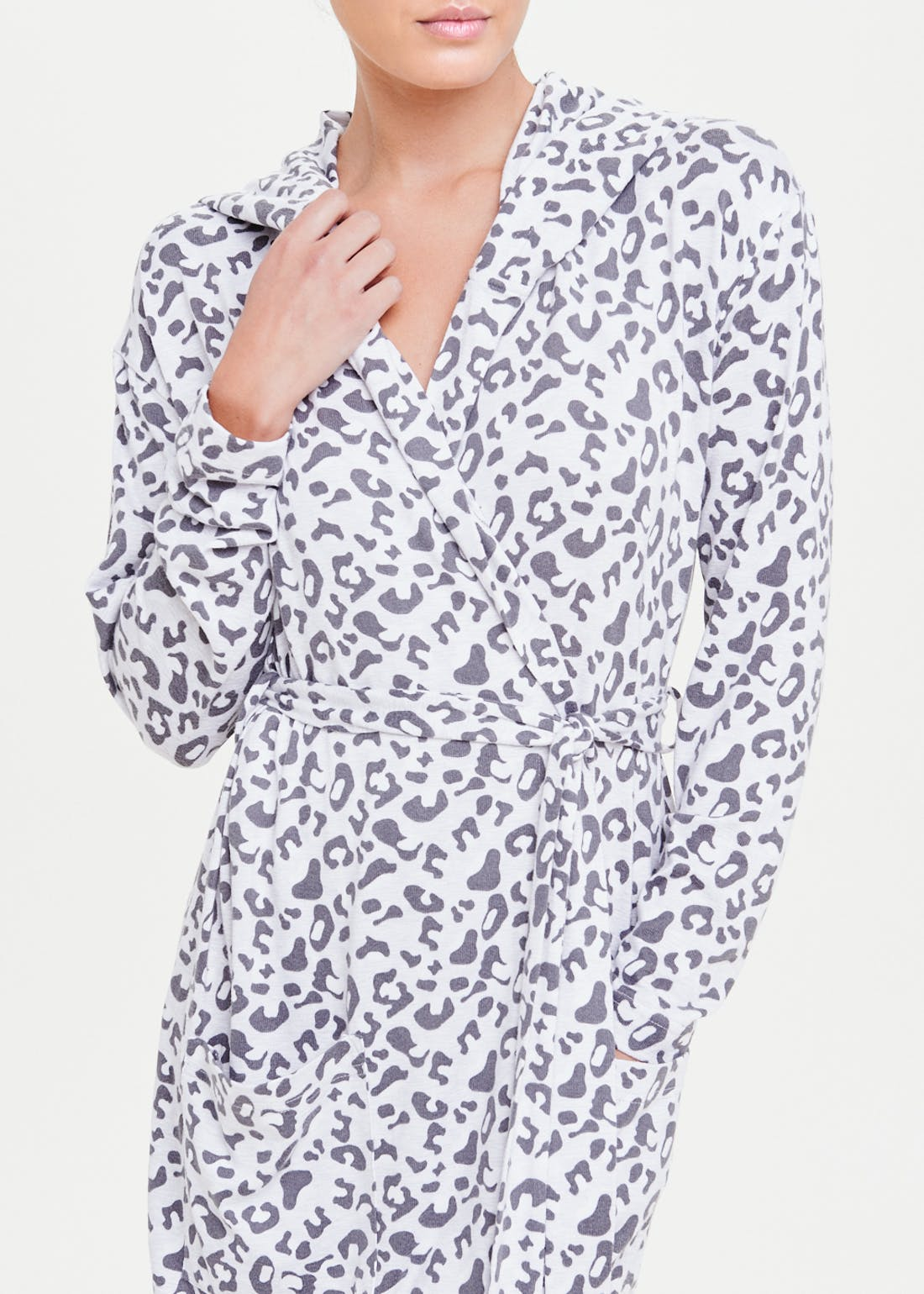 Leopard Print Soft Touch Robe Dressing Gown