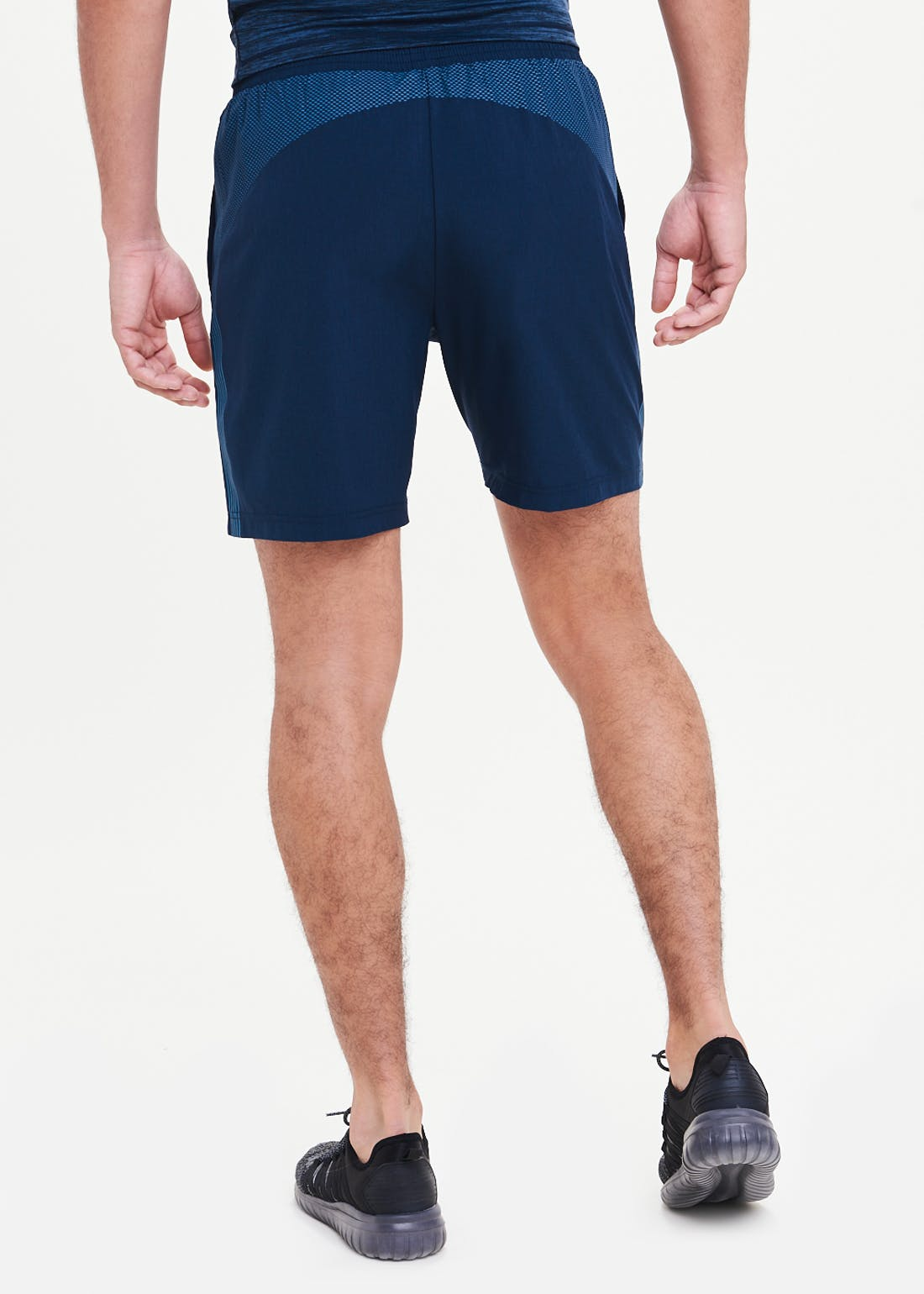Souluxe Navy Side Stripe Gym Shorts