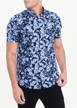 Short Sleeve Slim Fit Floral Shirt