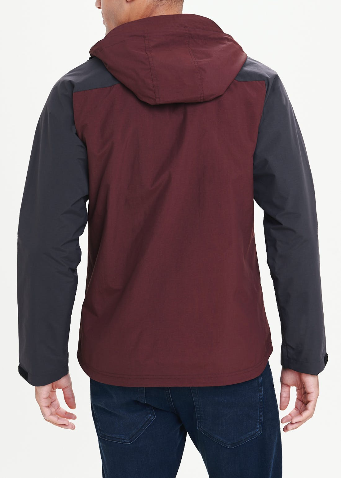 Rust Showerproof Hooded Jacket