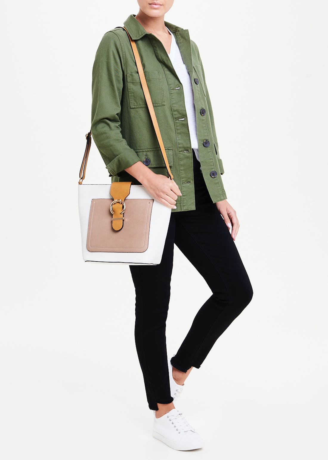 Colour Block Bucket Bag
