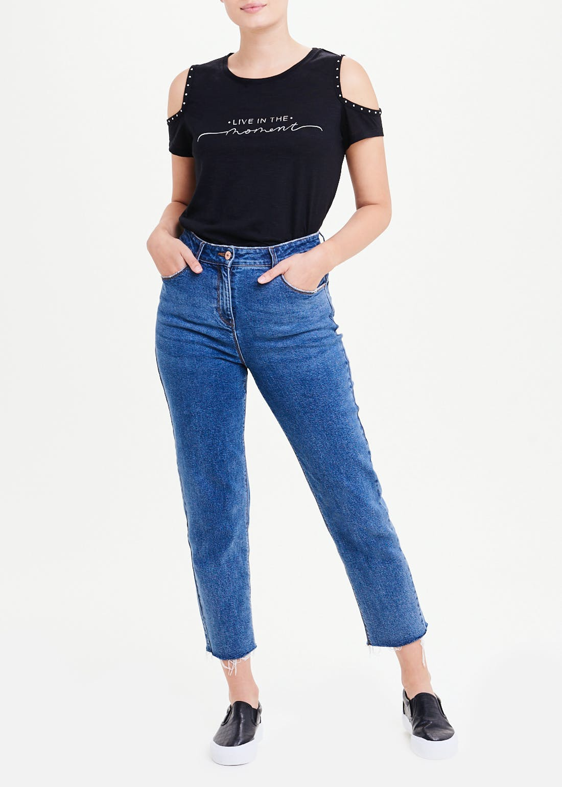 Live In The Moment Cold Shoulder Top