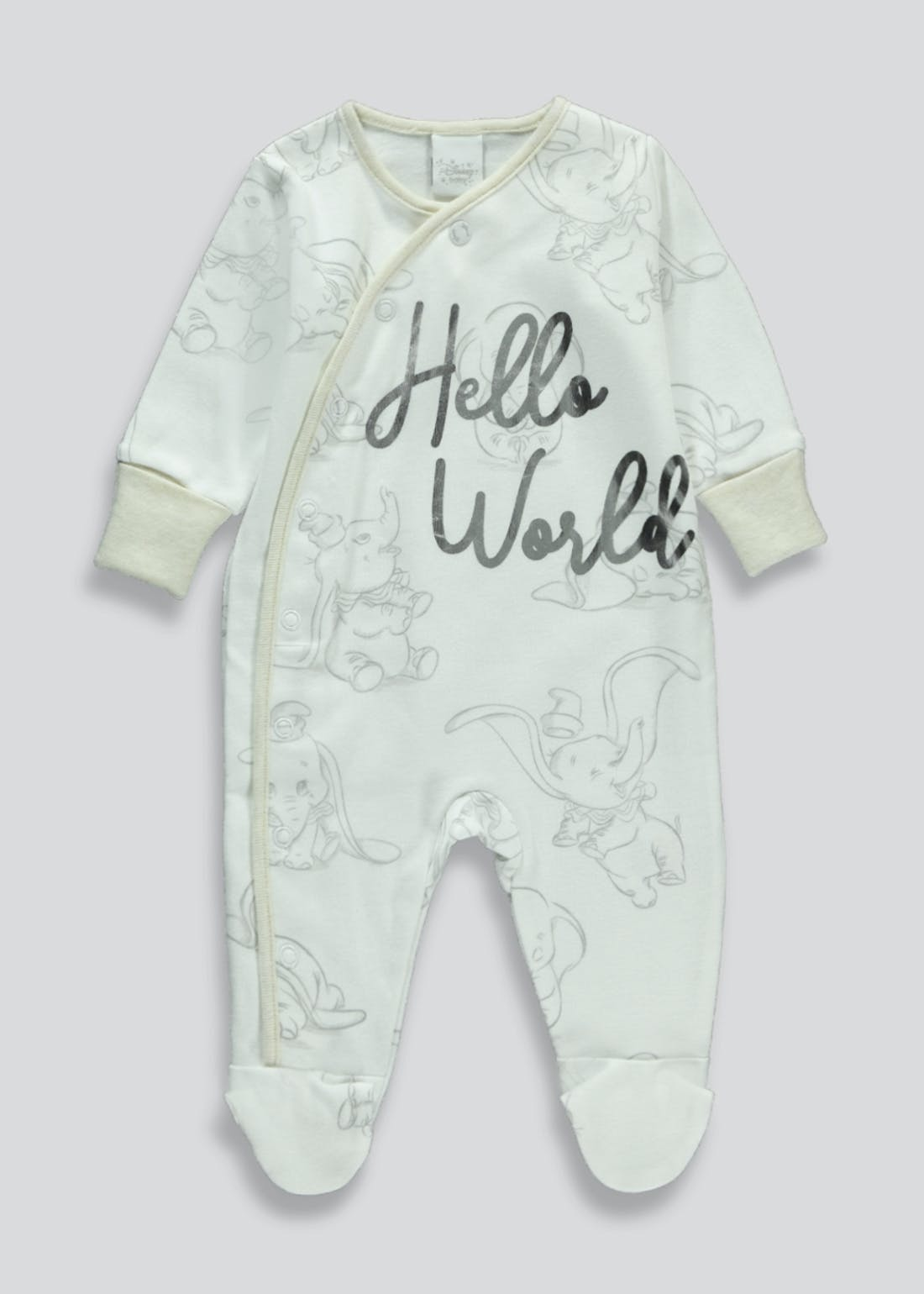 Unisex Disney Dumbo Baby Grow (Newborn-9mths)