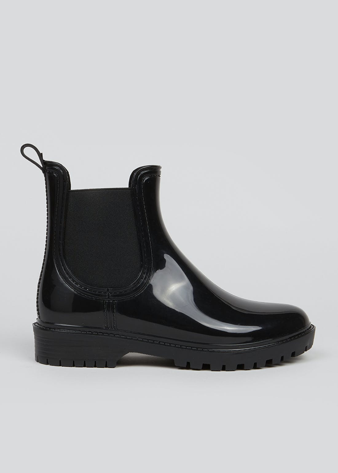 Black Chelsea Welly Boots