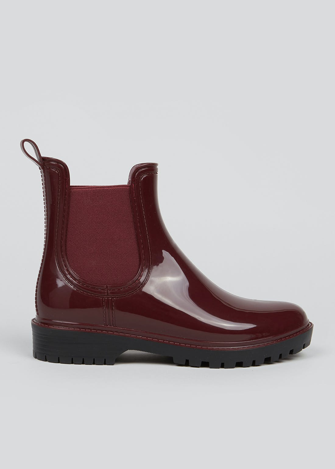 Burgundy Chelsea Welly Boots