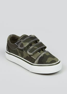Boys Camo Canvas Trainers (Younger 4-12)
