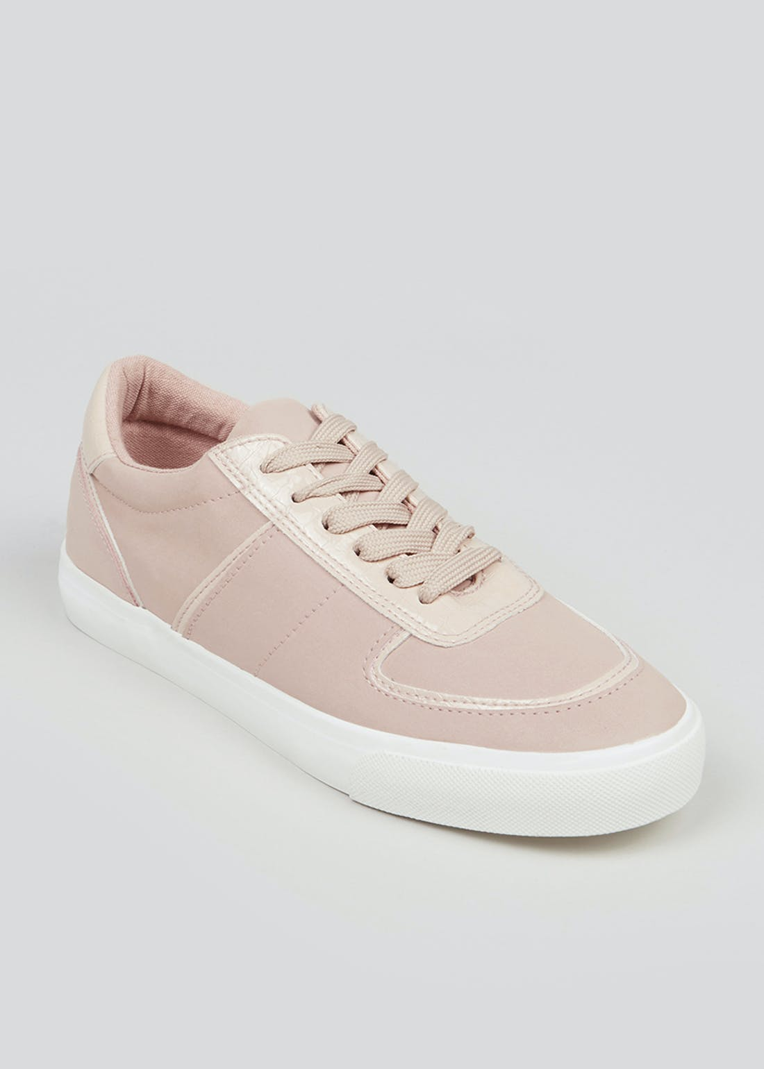 Nude Lace-Up Trainers