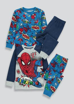 Kids 2 Pack Spider-Man Pyjamas (18mths-8yrs)