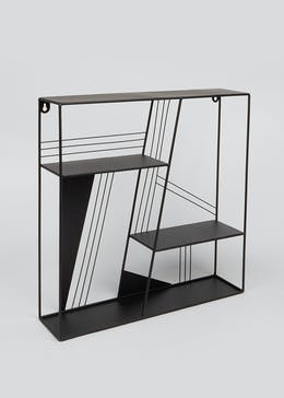 Square Geometric Metal Shelf (50cm x 50cm x 12cm)
