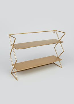 Concertina Metal Shelf (45cm x 32cm x 13cm)