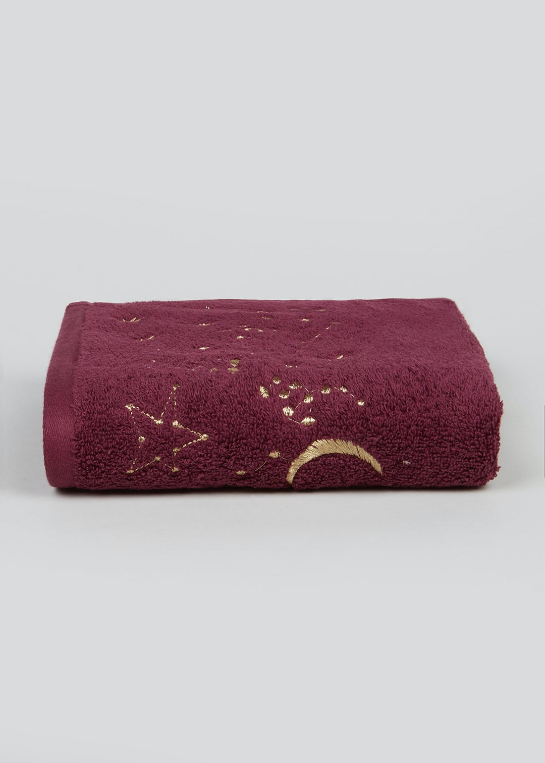 Embroidered Star Hand Towel (90cm x 50cm)