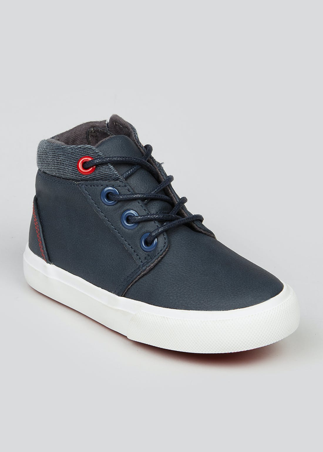Kids Navy High Top Trainers (Younger 4-12)