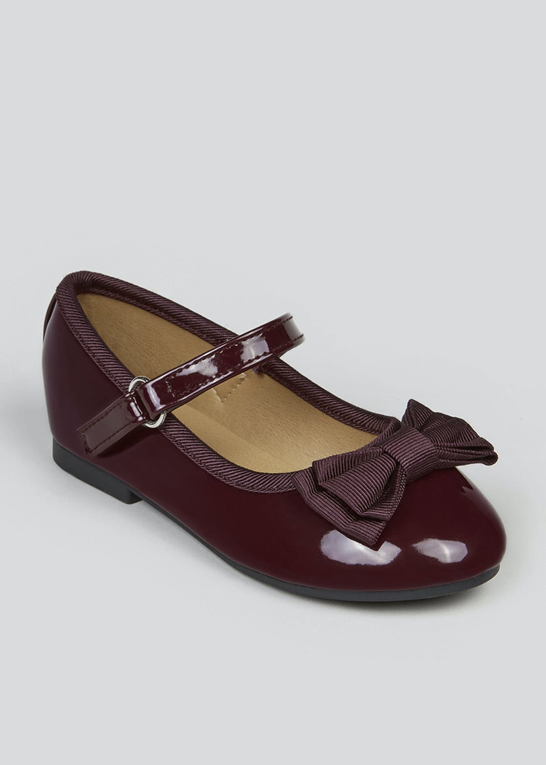 Girls Burgundy Patent Ballet Shoes (Younger 4-12)