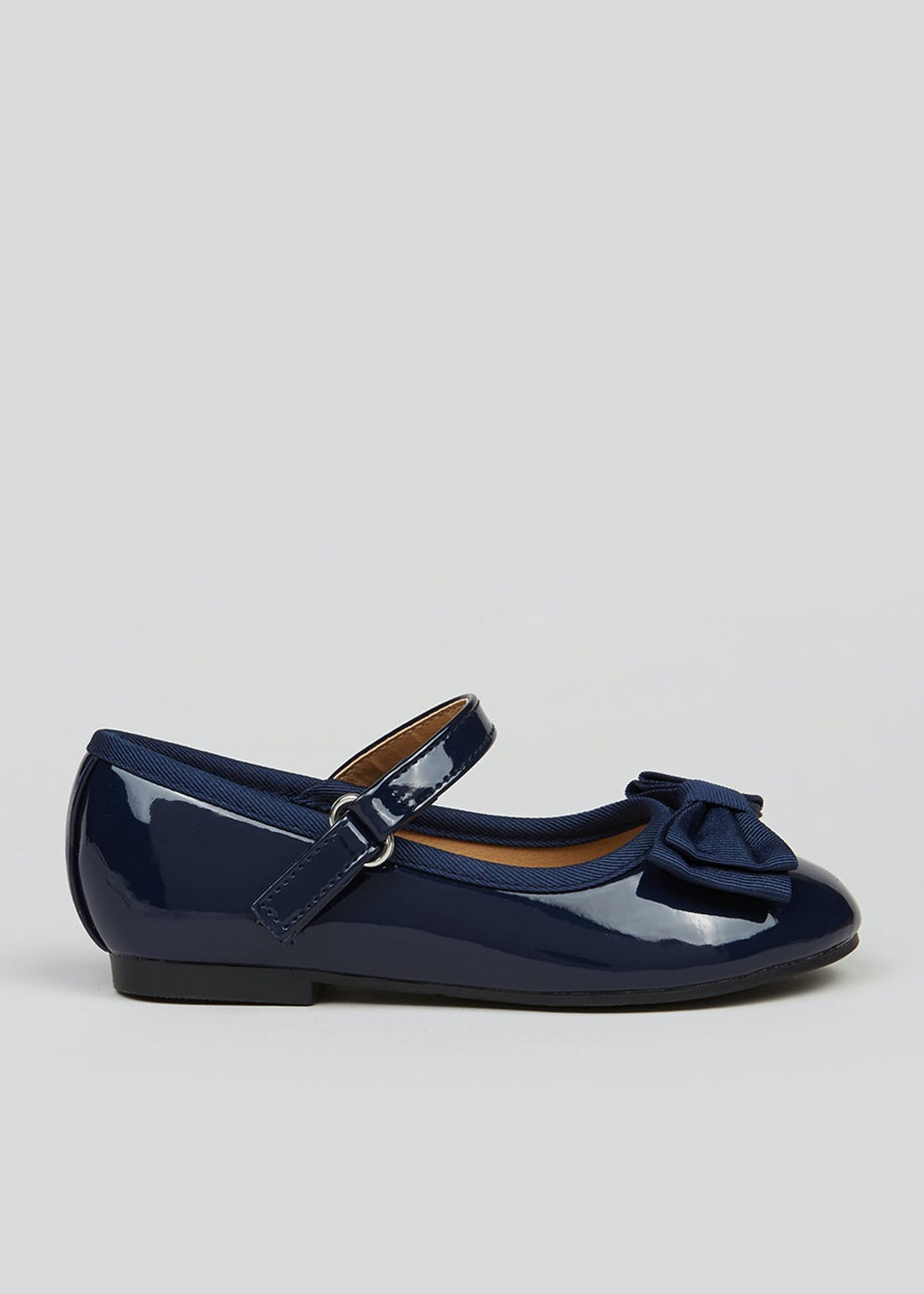 Girls Navy Patent Ballet Shoes (Younger 4-12)