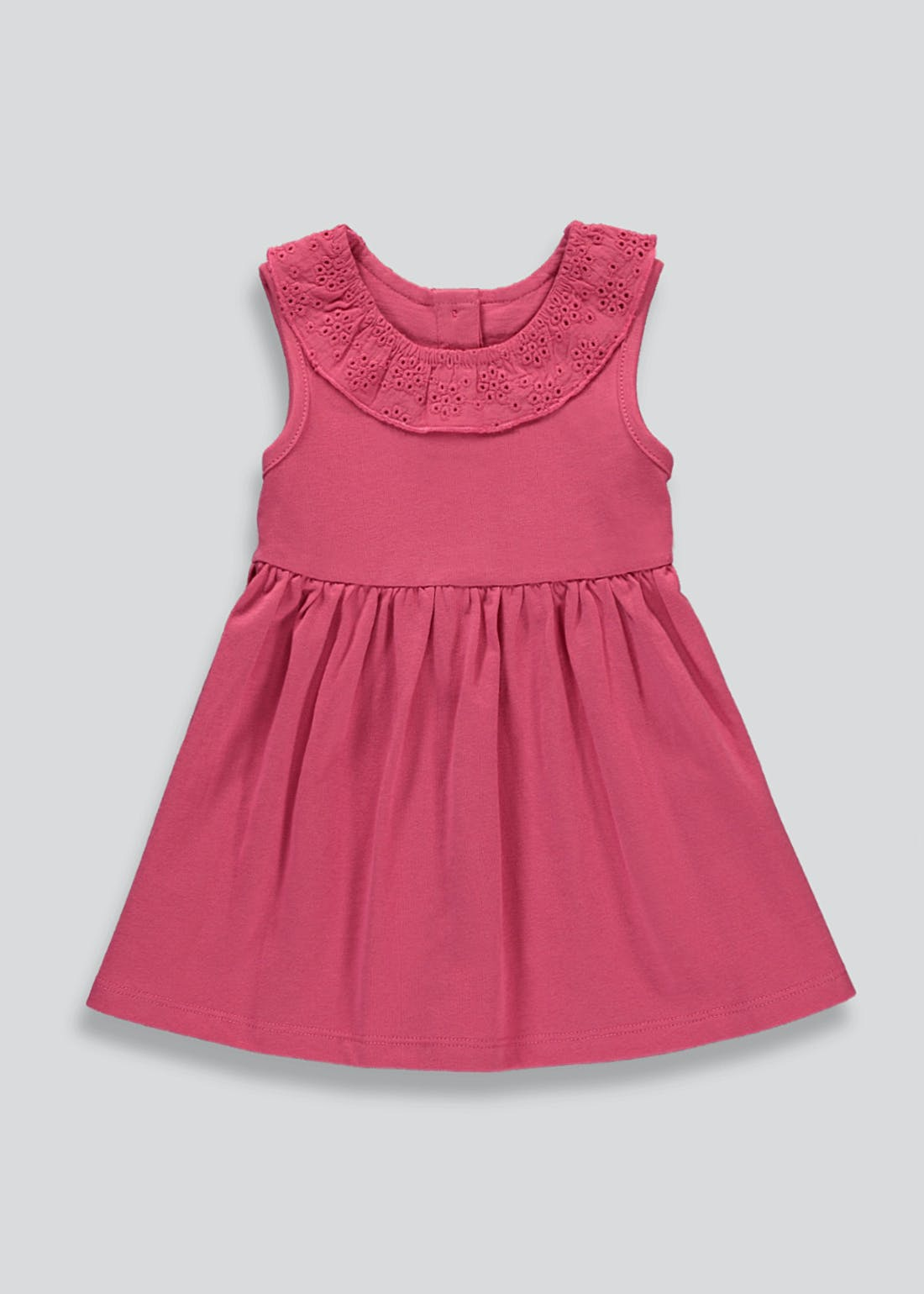 Girls Pink Sleeveless Dress (Tiny Baby-23mths)