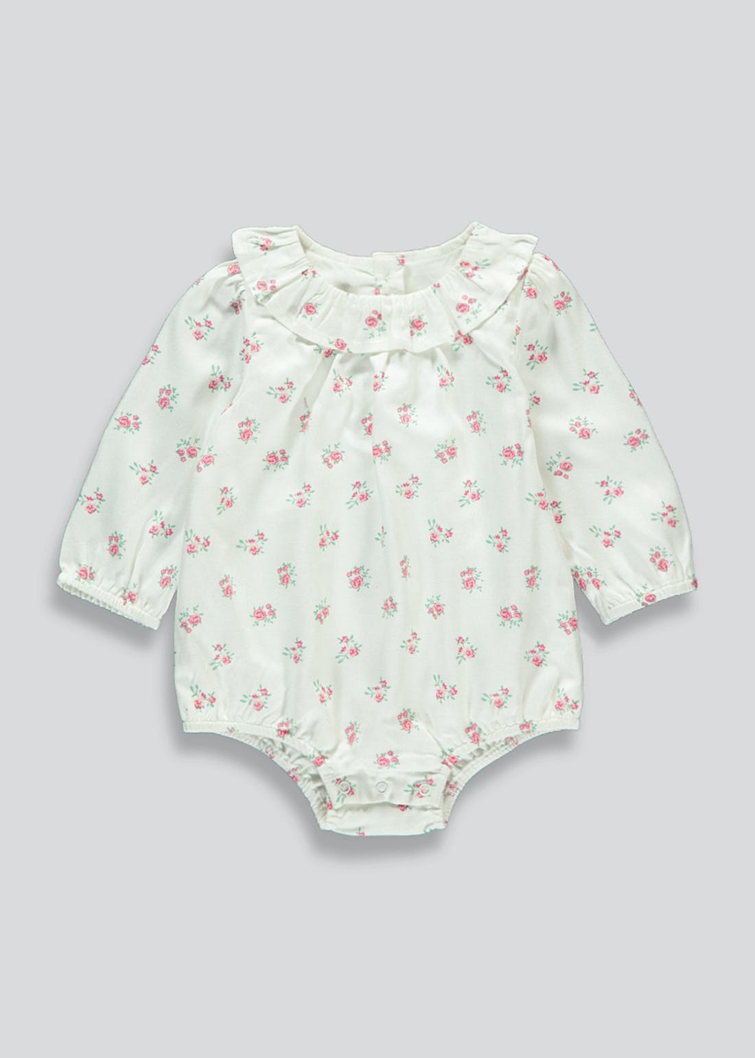 Girls Floral Woven Romper (Tiny Baby-18mths)