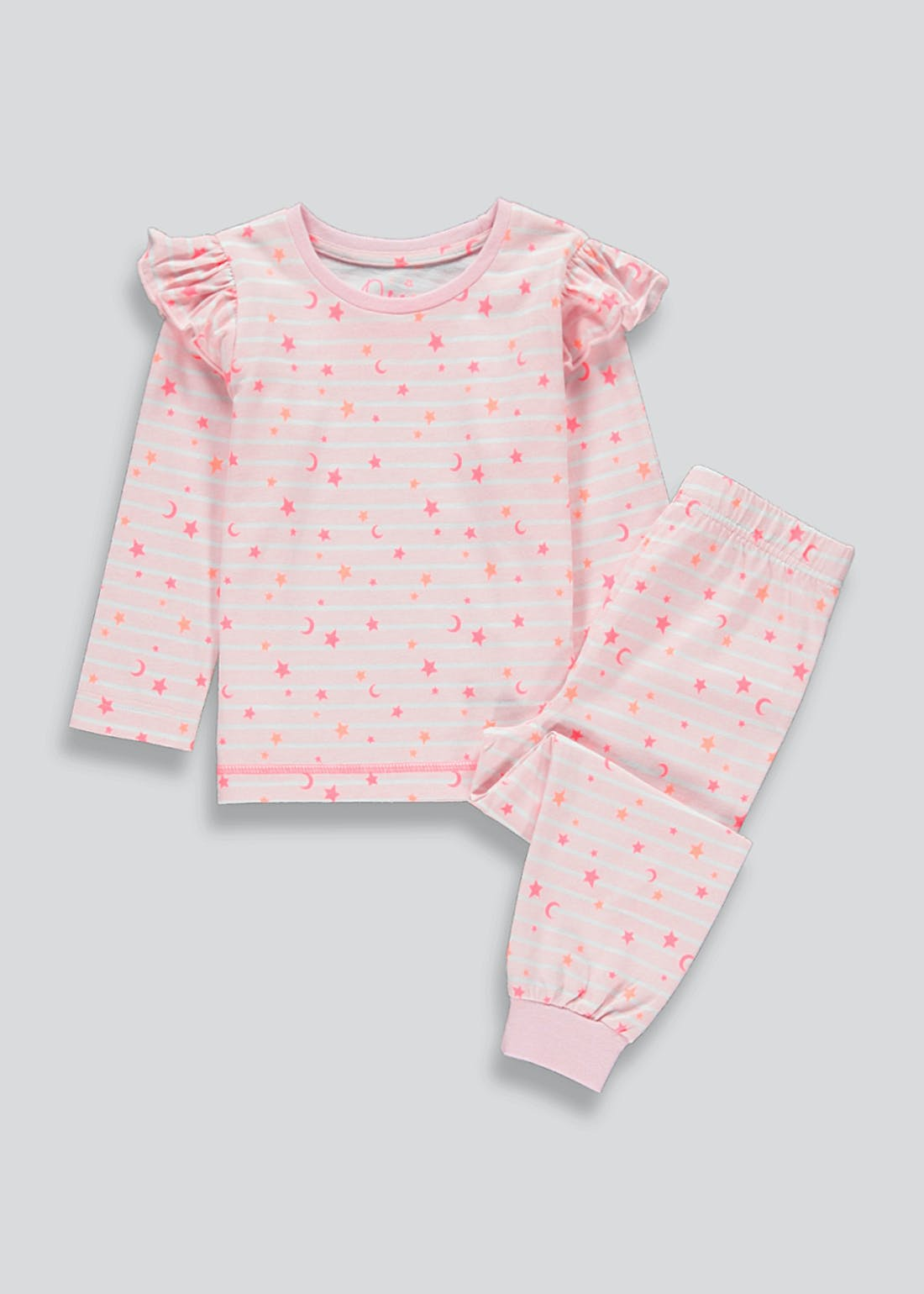 Girls Star Print Pyjama Set (9mths-5yrs)