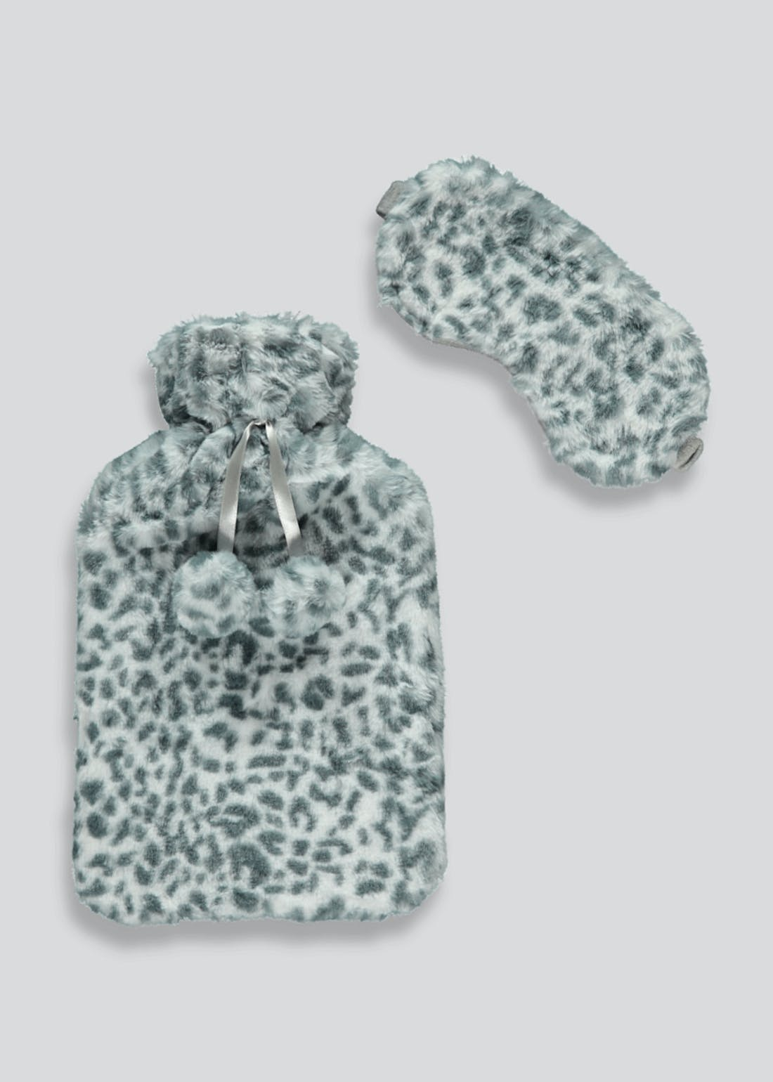 Leopard Print Hot Water Bottle & Eye Mask Gift Set