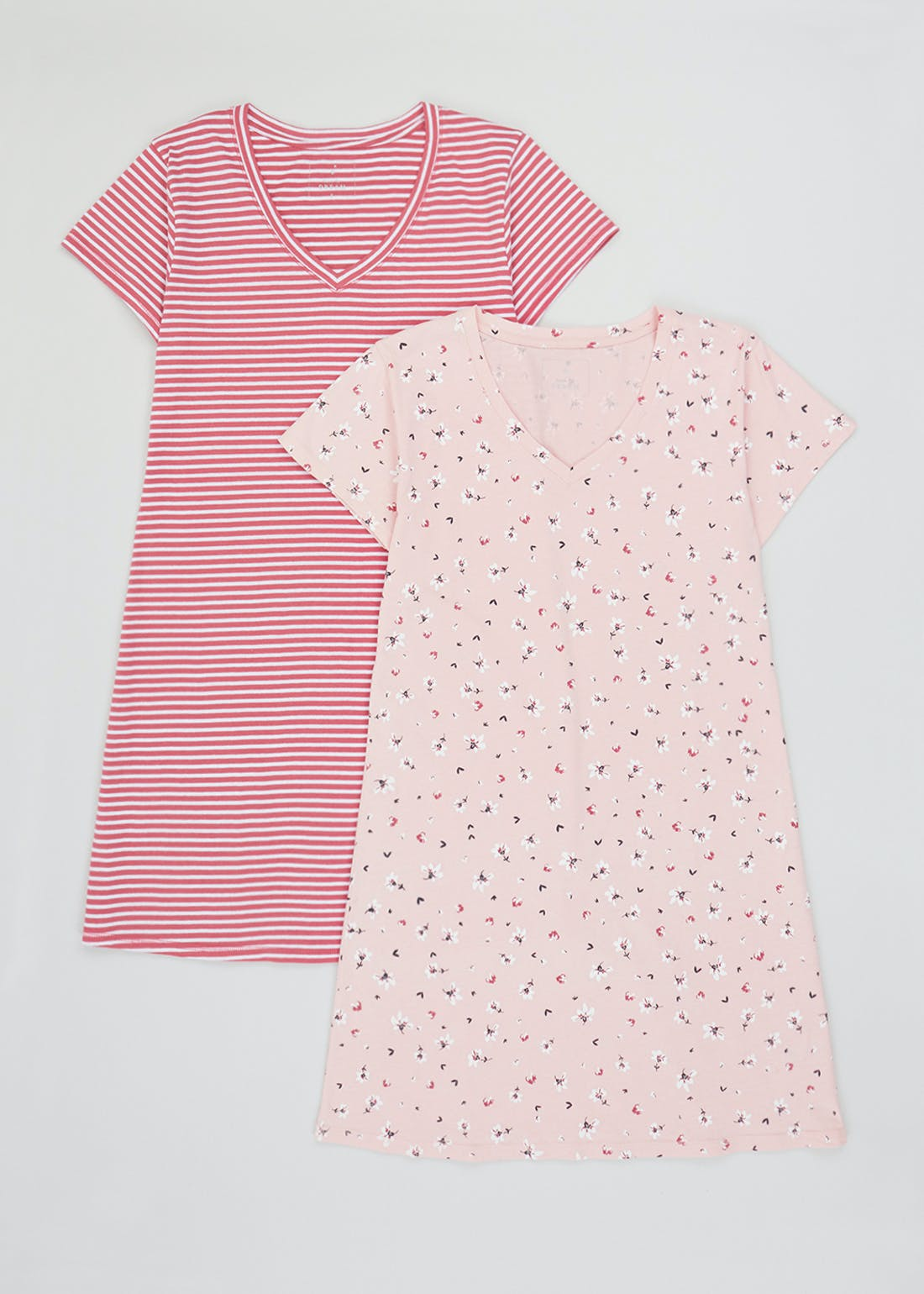 2 Pack V-Neck Printed Nighties