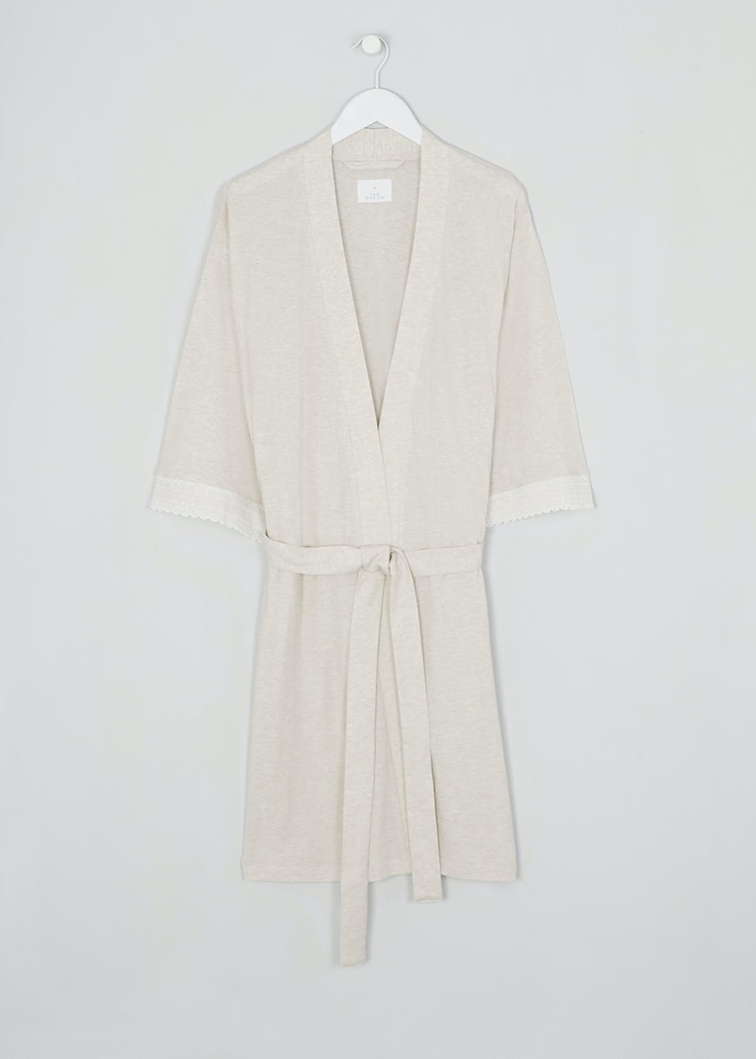 Lace Trim Modal Robe Dressing Gown