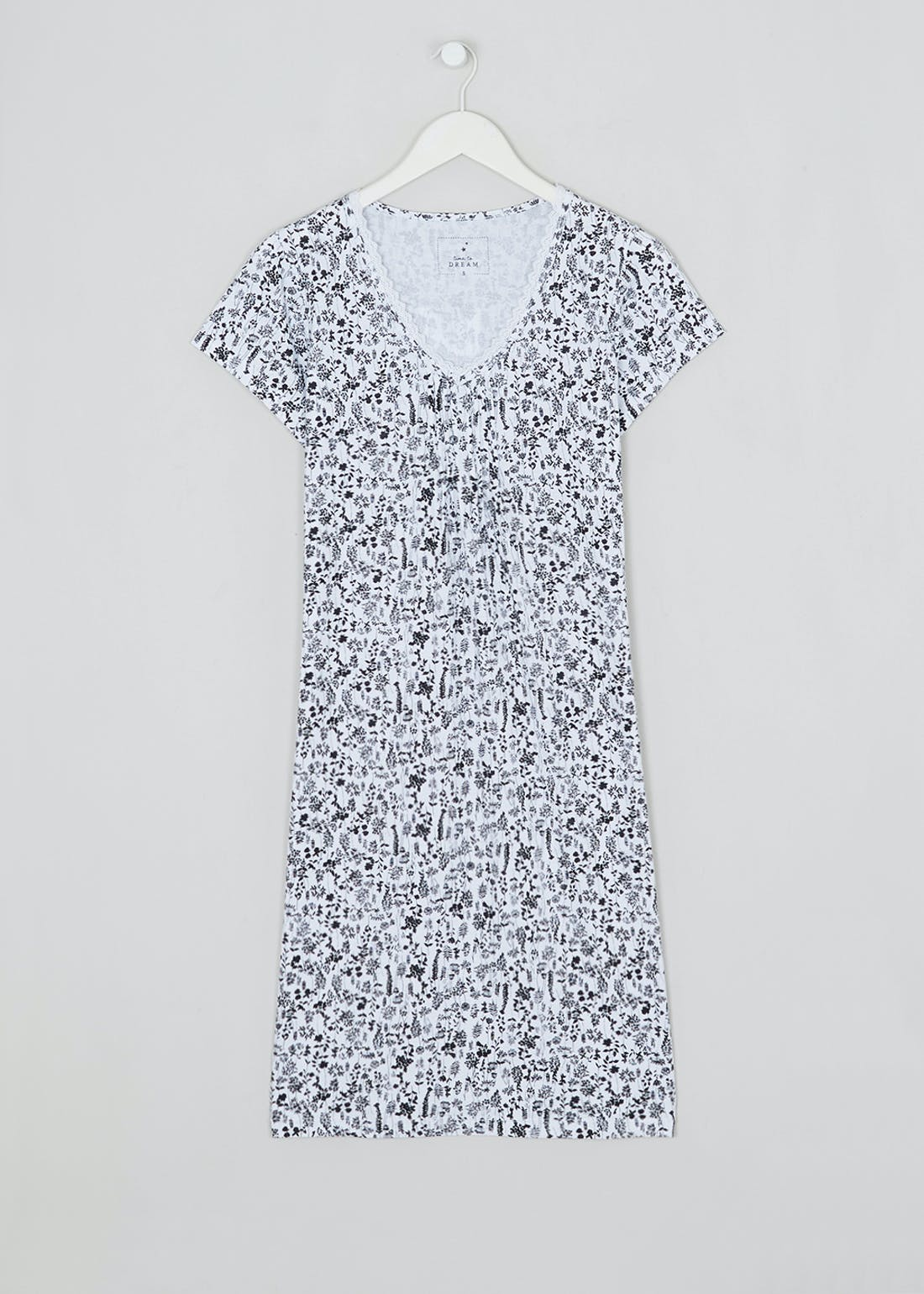 Floral Lace Trim Nightie