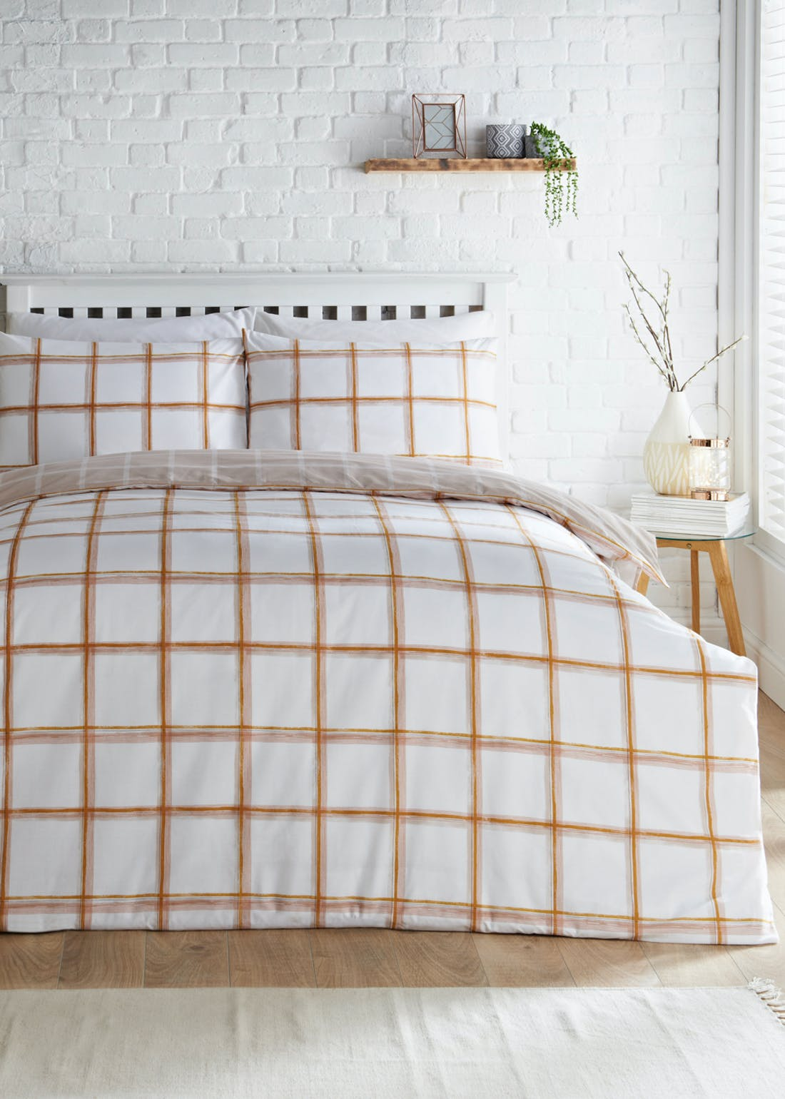 Reversible Check Duvet Cover
