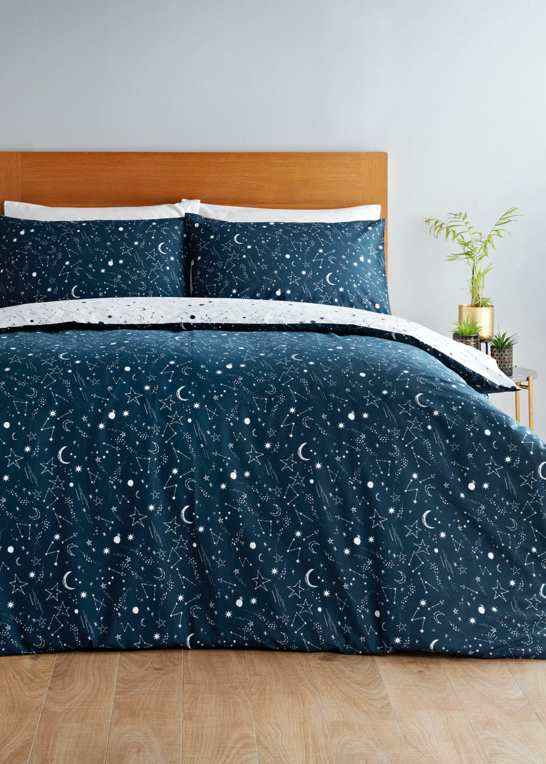 Reversible Constellation Print Duvet Cover