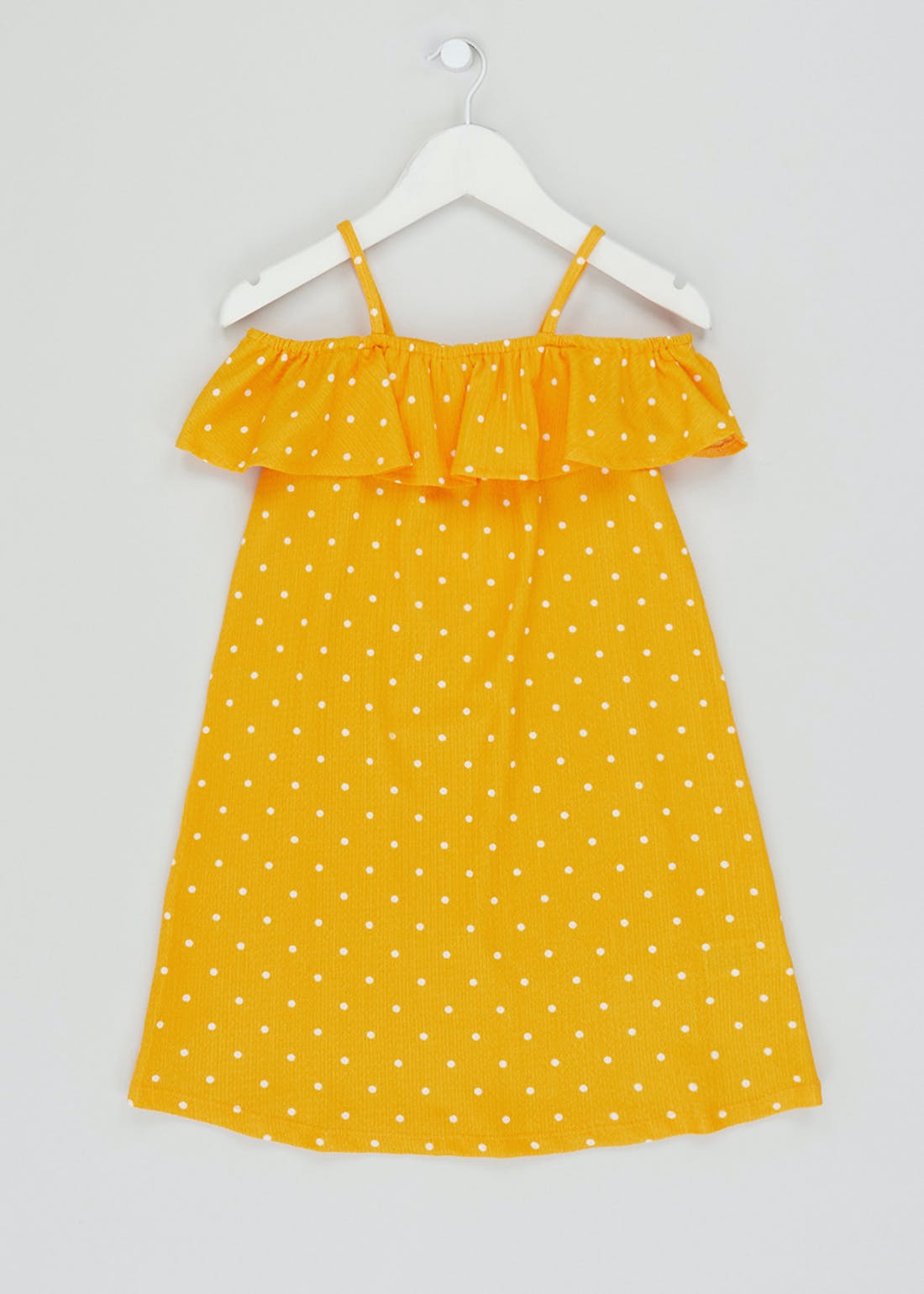 Girls Spot Print Bardot Dress (4-13yrs)