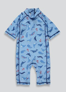 Kids Whale Print Surf Suit (12mths-4yrs)