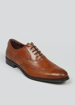 Tan Leather Formal Brogues